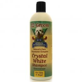 Шампунь для белой шерсти (концентрат 1:8) EZ-Groom Crystal White Enzyme, 473мл