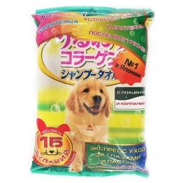 Шампуневые полотенца для крупных собак DoggyMan 726207P, 15шт
