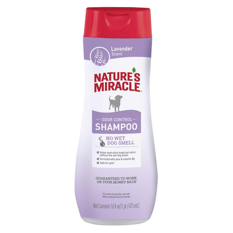 Шампунь против запаха для собак с ароматом лаванды 8in1 Natures Miracle Lavender, 473мл
