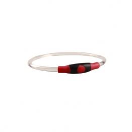 Светящийся силиконовый ошеник с регулировкой длины, красный,  Грызлик Ам 50.GR.001