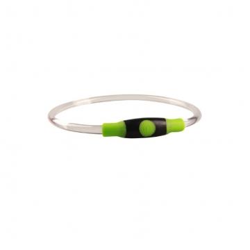 Светящийся силиконовый ошеник с регулировкой длины, зеленый,  Грызлик Ам 50.GR.003
