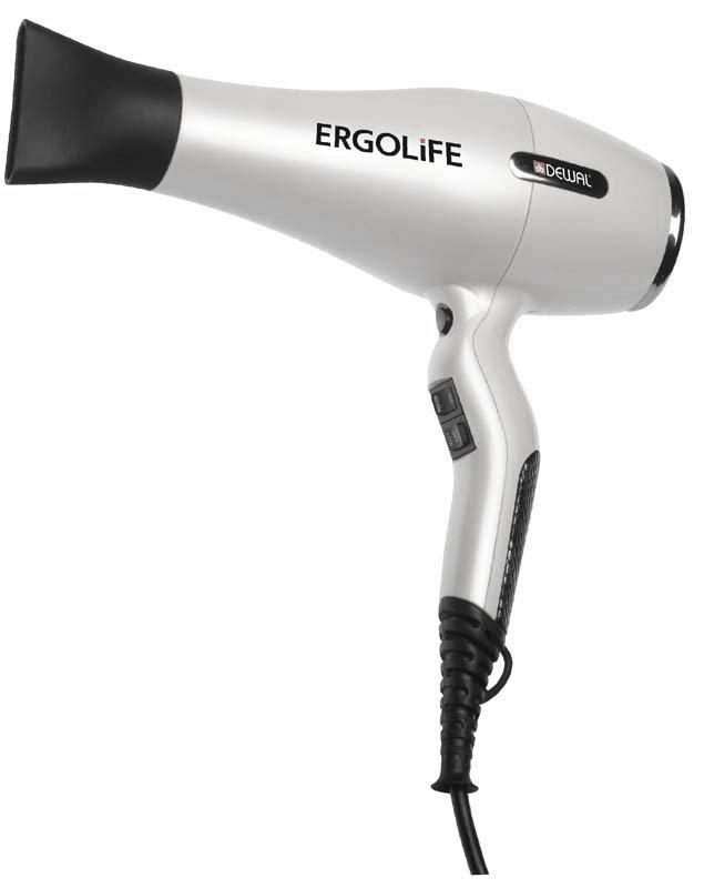 Фен Dewal ErgoLife 03-001, белый, 2200 Вт