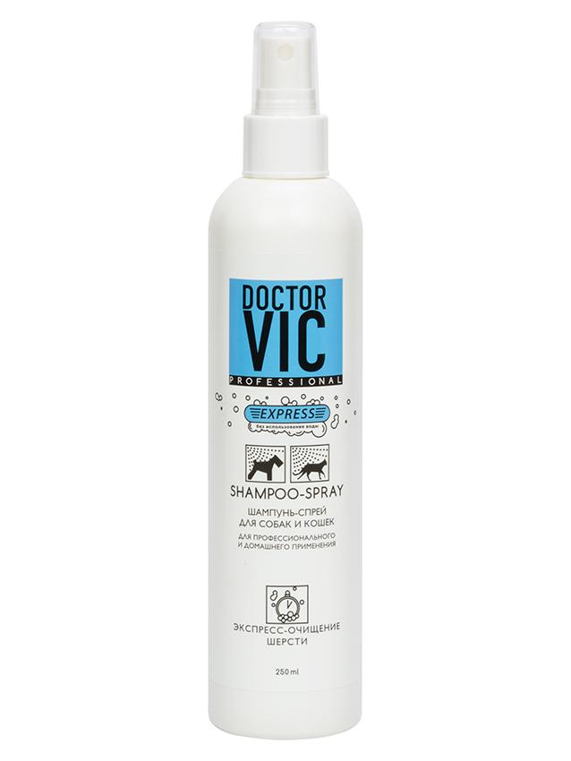 Спрей-шампунь для экспресс-очищения шерсти собак и кошек Doctor VIC, 250мл
