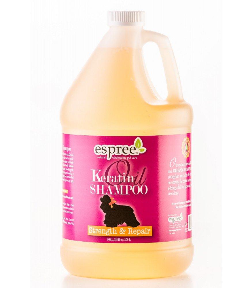 Шампунь с кератином (концентрат 1:8) Espree Keratin Oil, 3.8л