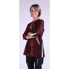 Блуза грумера, модель Diamond, бордовая