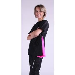 Блуза грумера, модель Sole, черная с розовым