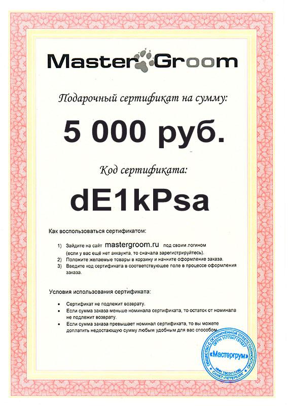 Подарочный сертификат на 5 000 руб