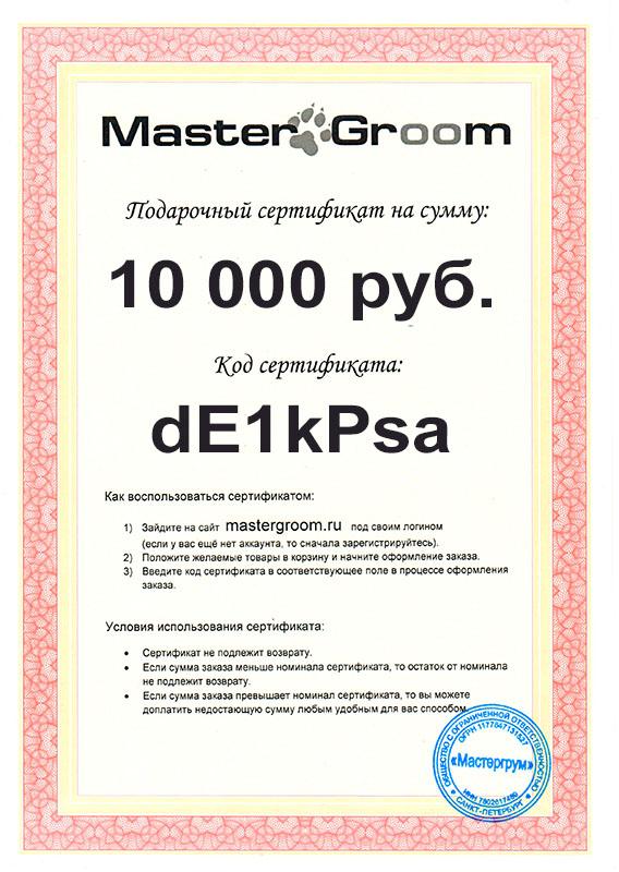 Подарочный сертификат на 10 000 руб