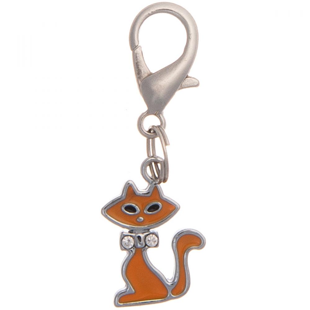 """Адресник """"Кошка со стразами"""" для кошек (2х1.5см), V.I.Pet 19018"""