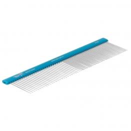 Расческа алюминиевая 50/50 (19см), плоская ручка, Hello Pet 51191