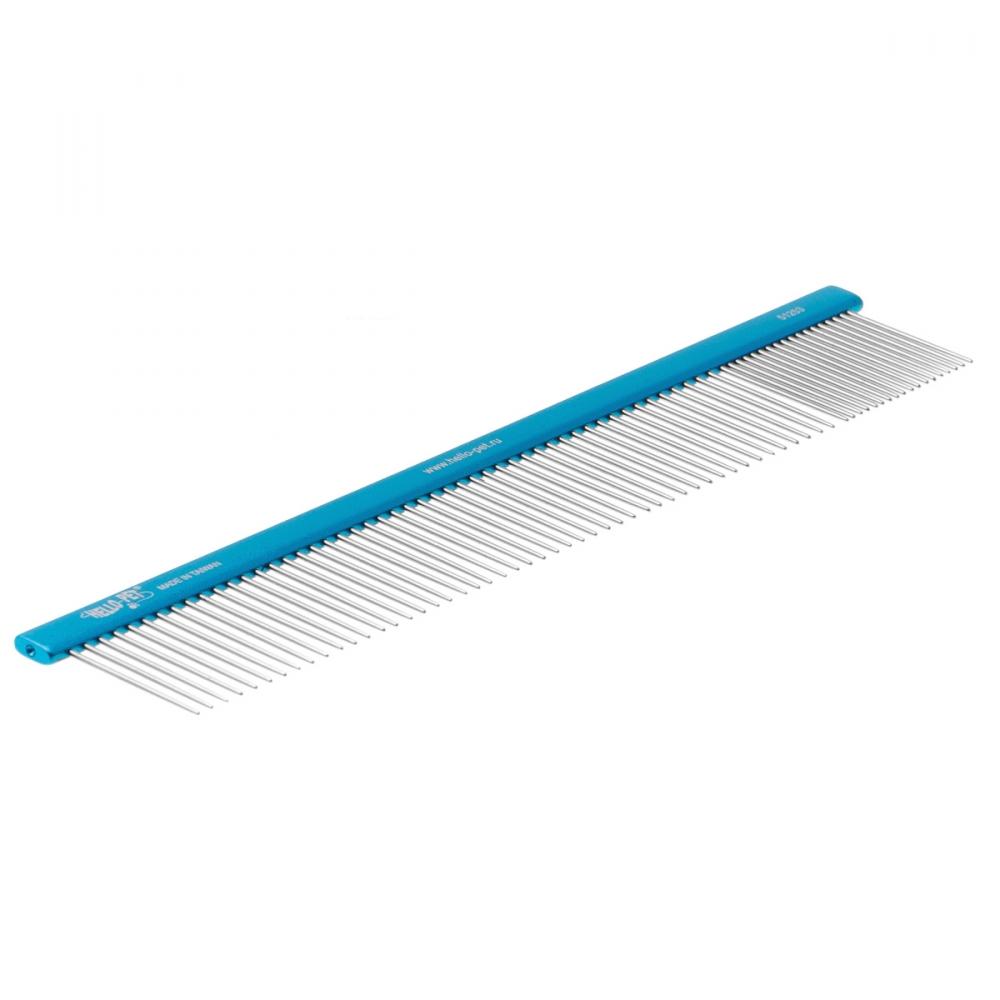 Расческа алюминиевая 20/80 (25см), плоская ручка, Hello Pet 51253