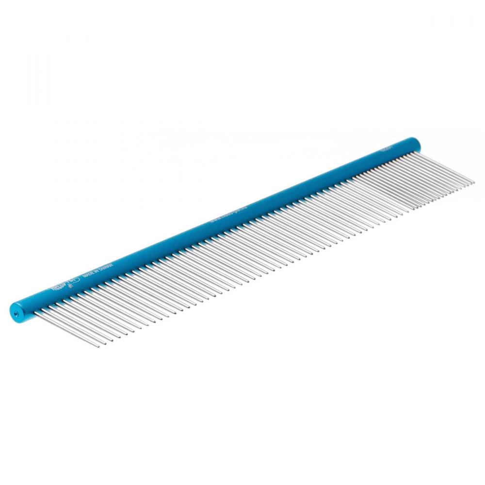 Расческа алюминиевая 20/80 (25см), круглая ручка, Hello Pet 52251