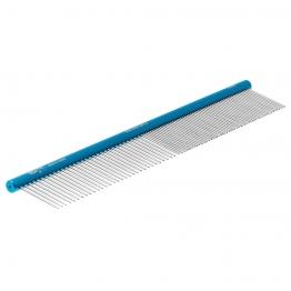 Расческа алюминиевая 50/50 (25см), круглая ручка, Hello Pet 52252