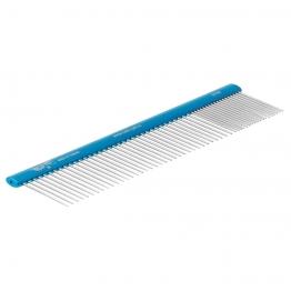 Расческа алюминиевая 20/80 (19см), овальная ручка, Hello Pet 53193