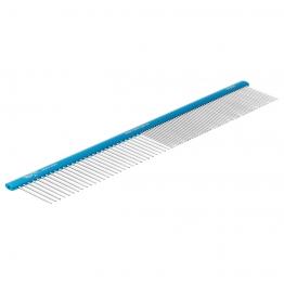 Расческа алюминиевая 50/50 (30см), овальная ручка, Hello Pet 53306