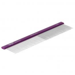 Расческа алюминиевая 50/50 (19см), зуб 23 мм, плоская ручка, Hello Pet 61191
