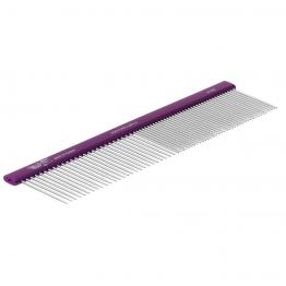 Расческа алюминиевая 50/50 (19см), зуб 34мм, плоская ручка, Hello Pet 61192