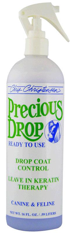 Кератиновый спрей для ниспадающей шерсти, Chris Christensen Precious Drop, 473мл