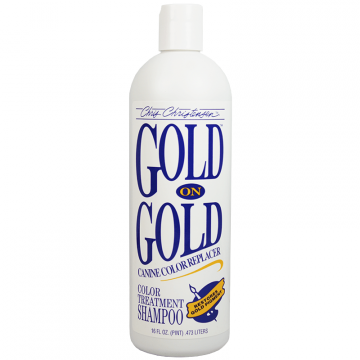 Шампунь для животных золотистых окрасов, Chris Christensen Gold on Gold, 473 мл