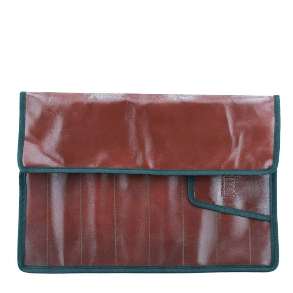 Чехол-разворотка на 8 ножниц, коричневый DIMI D001Braun
