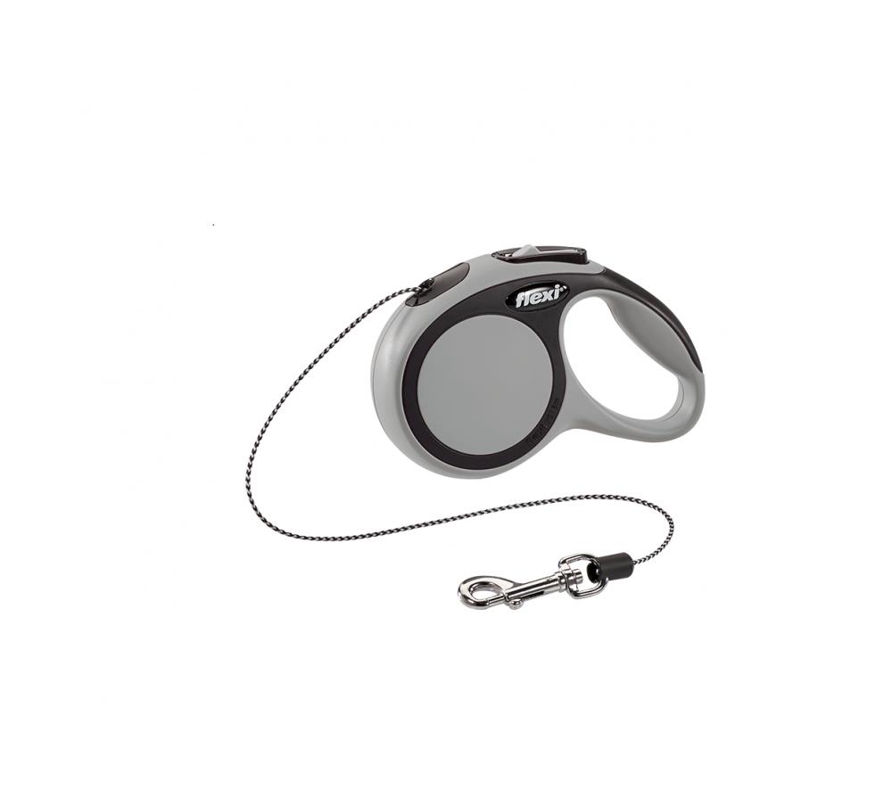 Поводок-рулетка, трос 3 метра, для животных до 8кг, Flexi New Comfort XS Cord