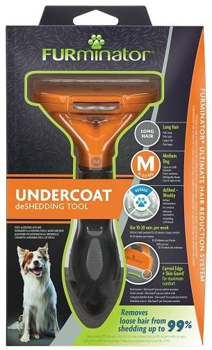 Фурминатор для средних собак с длинной шерстью, FURminator M