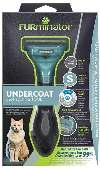 Фурминатор для маленьких кошек c длинной шерстью FURminator S