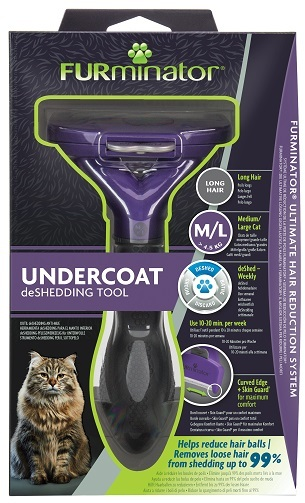 Фурминатор для больших кошек c длинной шерстью FURminator M/L