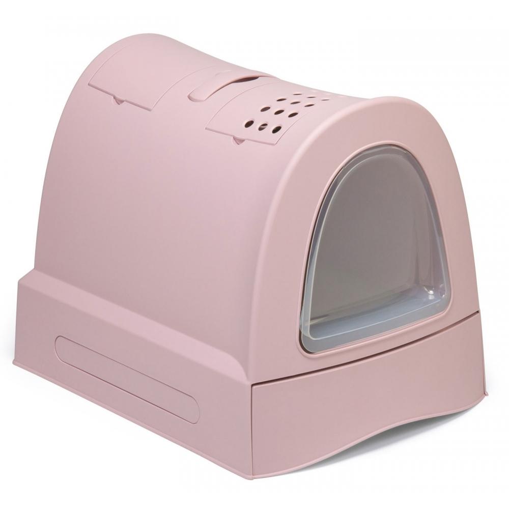 Закрытый туалет для кошки с выдвижным лотком (40х56х42см), Imac Zuma