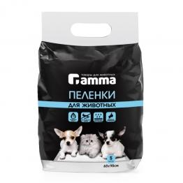 Пеленки для животных, впитывающие одноразовые, 60х90см Gamma 30552006-7