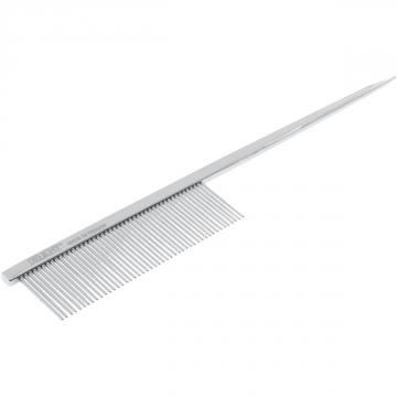 Расческа стальная с ручкой-спицей, зуб 22мм DeLIGHT 3121346L