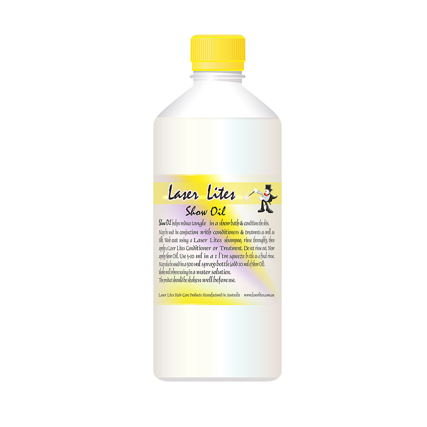Масло для шерсти, минеральное (концентрат 1:100) Laser Lites Show Oil, 500мл