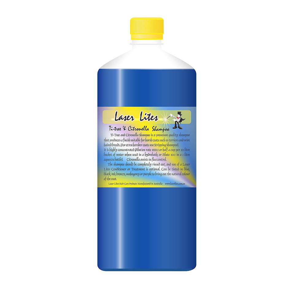 Шампунь для жесткой шерсти (концентрат 1:20) Laser Lites Ti-Tree & Citron, 1л