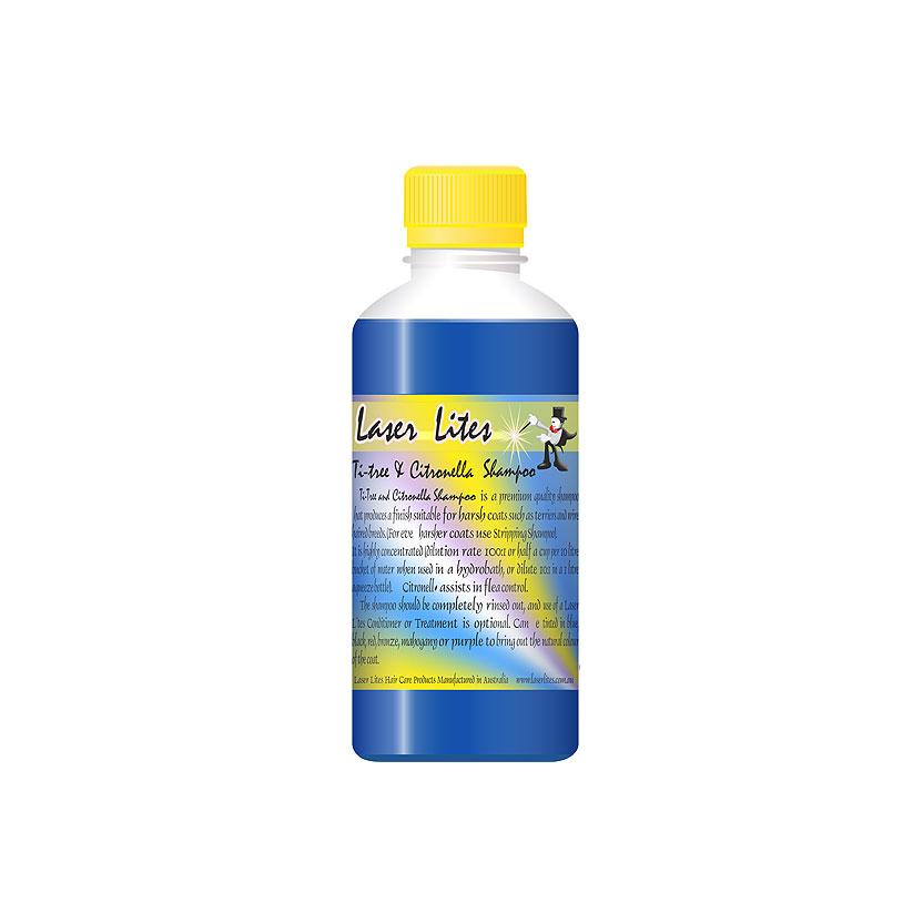 Шампунь для жесткой шерсти (концентрат 1:20) Laser Lites Ti-Tree & Citron, 250мл