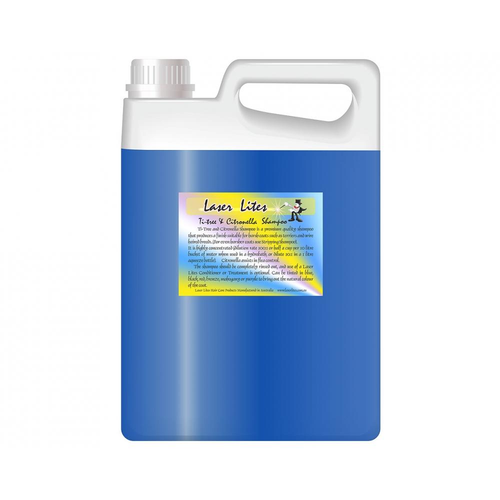 Шампунь для жесткой шерсти (концентрат 1:20) Laser Lites Ti-Tree & Citron, 4л