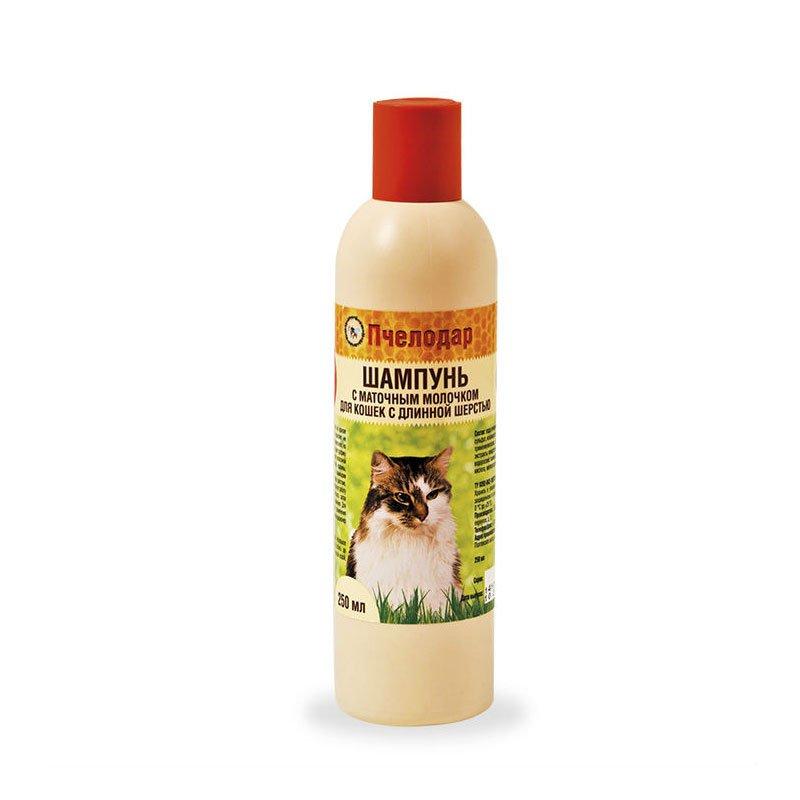 Шампунь с маточным молочком для кошек с длинной шерстью Pchelodar, 250мл