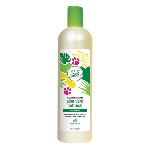 Веганский шампунь с Алоэ и Овсянкой (концентрат 1:16) Pet Silk Vegan Aloe Vera Oatmeal, 473мл