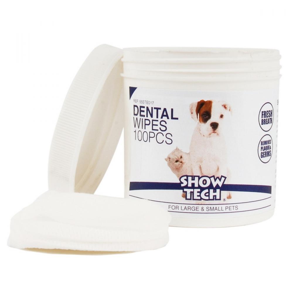 Гигиенические салфетки для зубов Show Tech Dental Wipes, 100шт