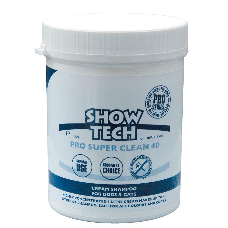 Крем-шампунь для животных (концентрат 1:41) Show Tech Pro Super Clean 40, 1л
