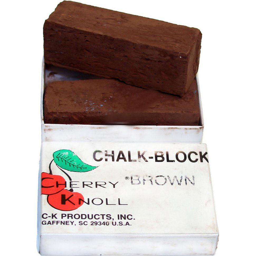 Мел для окрашивания шерсти животных (2 бруска по 75х25х25мм), С.K. Chalk Block Brown (коричневый)