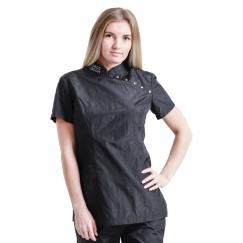 Блуза грумера, модель Pulsar Ниндзя, черная Space Groom
