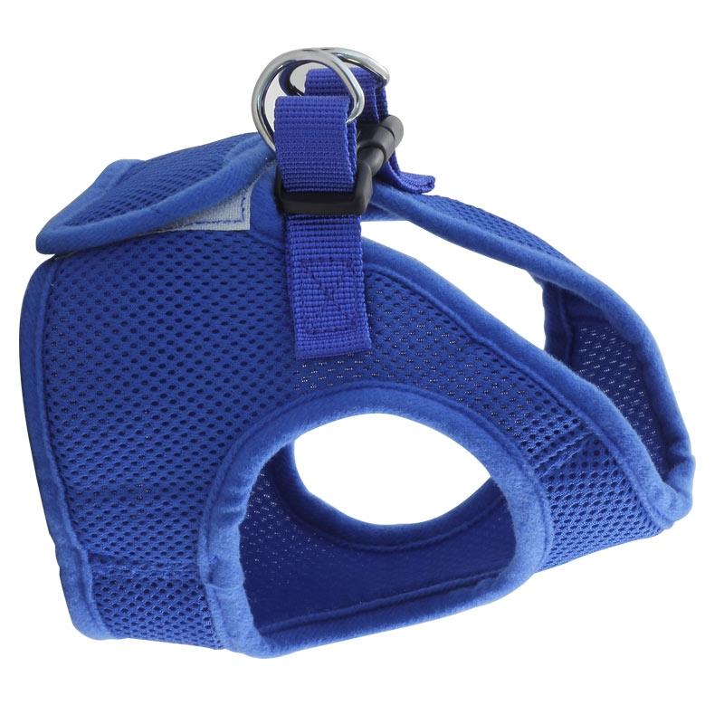Комплект мягкая шлейка-жилетка и поводок, синий, Triol HL02XS/S/M