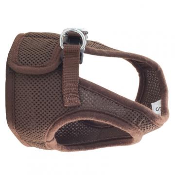 Комплект мягкая шлейка-жилетка и поводок, коричневая, Triol HL03XS/S/M